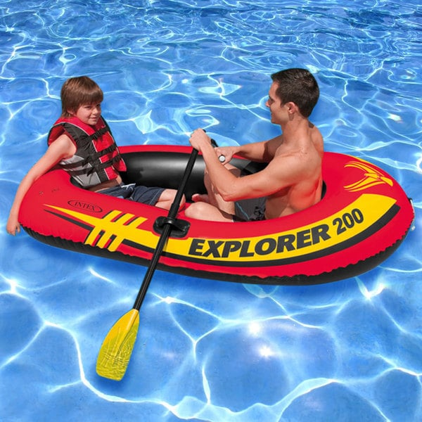 Intex Explorer 200 Inflatable Boat With Oars