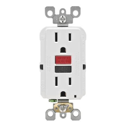 Leviton GFCI Receptacle 15 amps 5-15R 125 volts White
