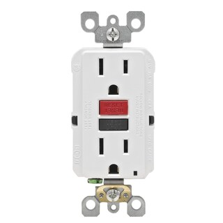 Link to Leviton  GFCI Receptacle  15 amps 5-15R  125 volts White Similar Items in Electrical