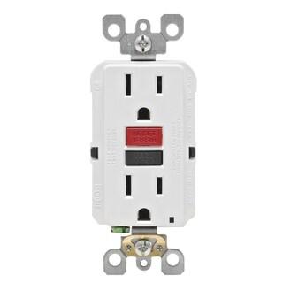Leviton R72-GFNT1-0RW 15 Amp White SmartlockPro Self-Test GFCI