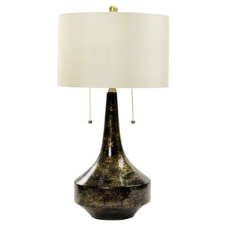 31-inch Floating Gold on Black Ceramic Table Lamp