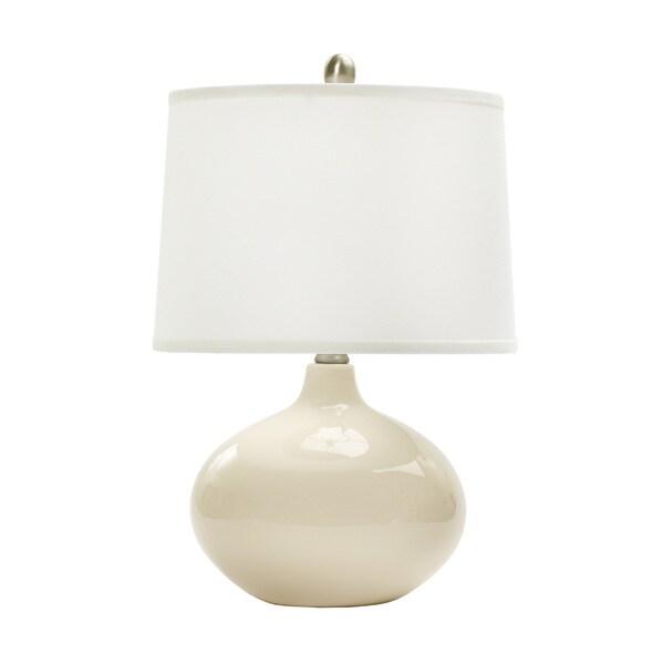 20-inch Chapman Ivory Ceramic Table Lamp