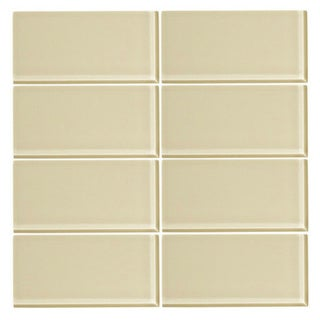 Vicci Design 3-inch x 6-inch Glass Subway Tile (6 Square Feet - 48 Pieces)