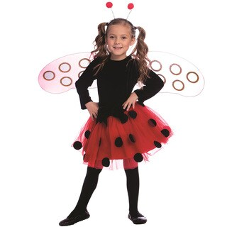Dress Up America Girl's Ladybug Costume (3 options available)