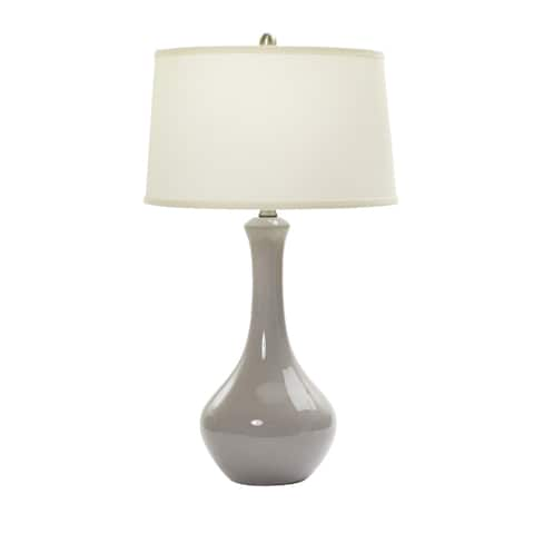 30-inch Swanky Grey Ceramic Table Lamp