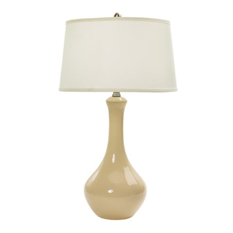 30-inch Bone Ceramic Table Lamp