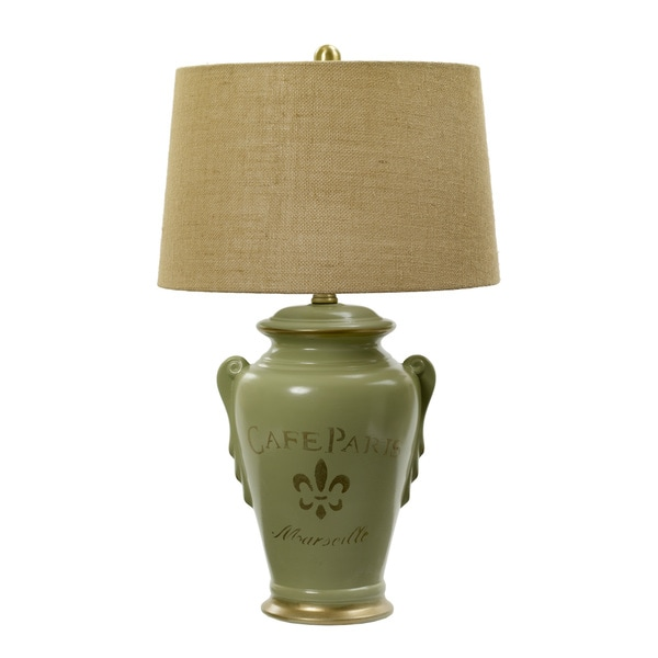 29.5-inch Heather & Gold Ceramic Table Lamp inspired By Paris