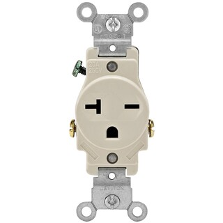 Leviton R56-05821-0TS Light Almond 20 Amp Single Outlet Receptacle