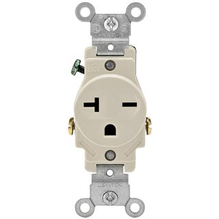 Leviton R56-05821-0TS Light Almond 20 Amp Single Outlet Receptacle
