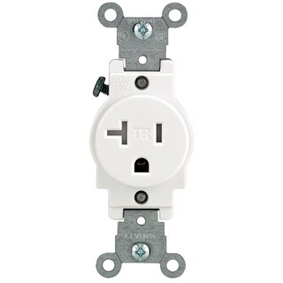 Leviton R52-T5020-0WS 20 Amp White Single Power Tamper Resistant Outlet