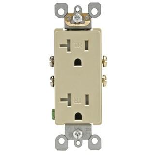 Leviton R51-T5825-00I 20 Amp Ivory Tamper-Resistant Decora Duplex Receptacle