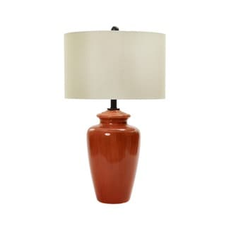 28-inch Rustic Brick Crackle Ceramic Table Lamp