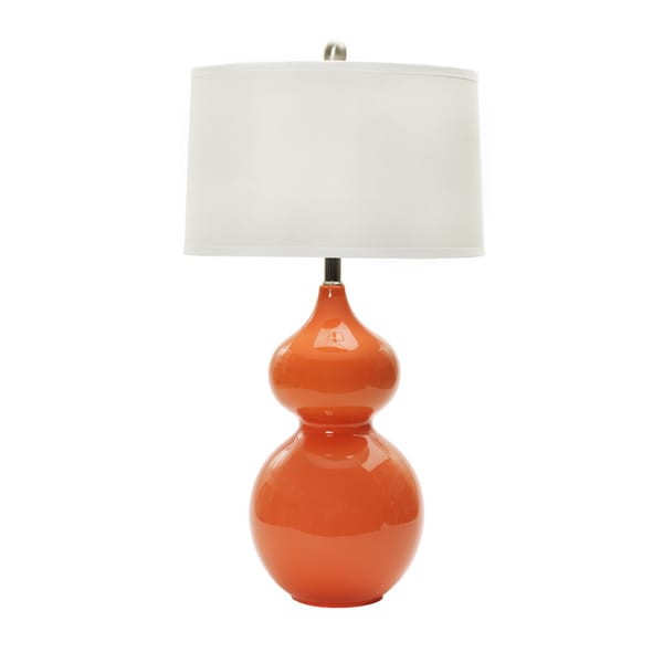 Shop 28 Inch Orange Nectar Ceramic Table Lamp Free Shipping Today