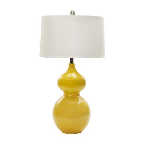 28-inch Curry Ceramic Table Lamp