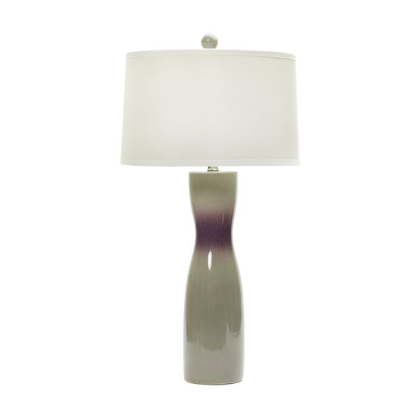 29-inch Chelsea & Fig Crackle Ceramic Table Lamp - Off-White