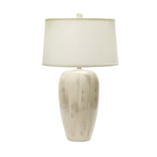 29-inch Rustic Eggshell Crackle Ceramic Table Lamp