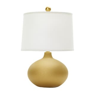 20-inch Textured Gold Ceramic Table Lamp
