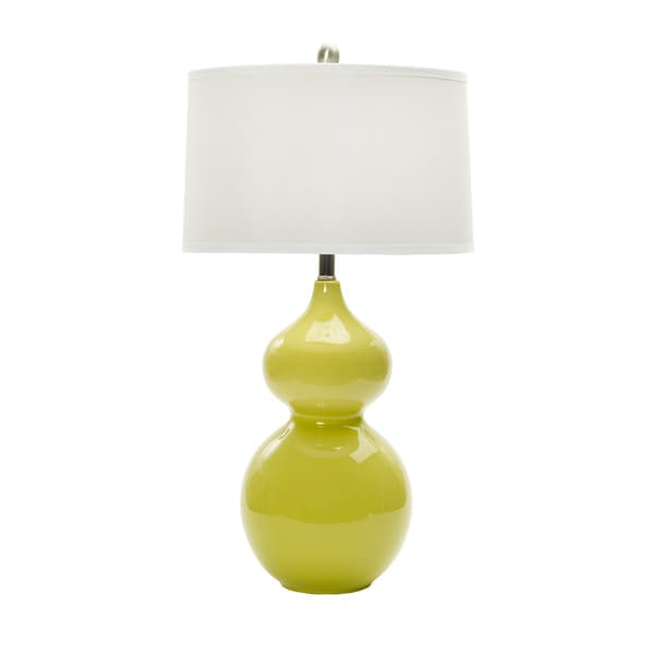 28-inch Chic Lime Ceramic Table Lamp