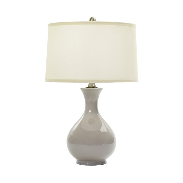 24-inch Swanky Grey Ceramic Table Lamp