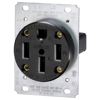 Leviton R50-00279-000 50 Amp 4 Wire Straight Blade Flush Mount Receptacle