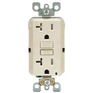 Leviton R06-GFTR2-0KT 20 Amp Light Almond GFCI Receptacle