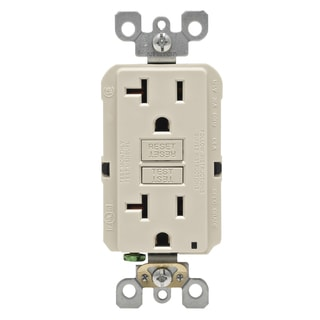 Leviton R06-GFNT2-0KT 20 Amp Light Almond SmartlockPro Self-Test GFCI