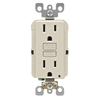 Leviton R06-GFNT1-0KT 15 Amp Light Almond SmartlockPro Self-Test GFCI