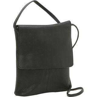 Le Donne Leather Small Flap-over Crossbody Handbag