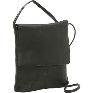 LeDonne Leather Small Flap-over Crossbody Handbag