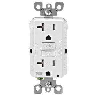 Leviton R02-GFWT2-0KW 20 Amp White SmartlockPro Self-Test GFCI