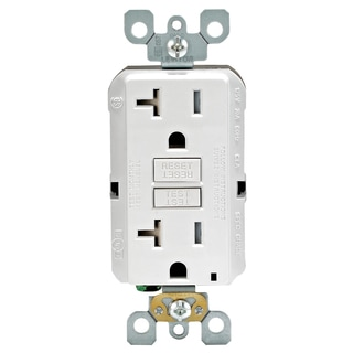 Leviton R02-GFTR2-0KW 20 Amp White SmartlockPro Self-Test GFCI