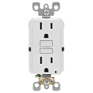 Leviton R02-GFNT1-0KW 15 Amp White SmartlockPro Self-Test GFCI