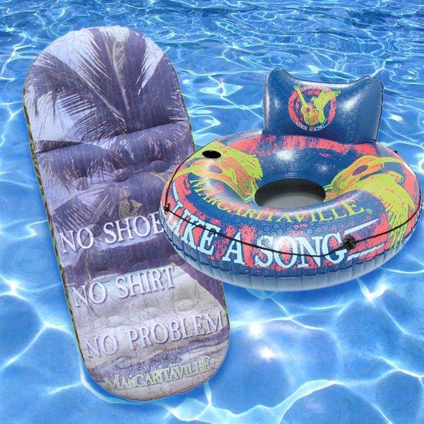 Margaritaville Easy Rider and Pool Mattress (Set of 2)