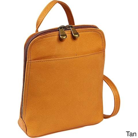 LeDonne Leather U-Zip Mini Crossbody Shoulder Handbag