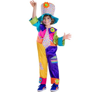 Dress Up America Boy's Multicolor Polyester Circus Clown Costume