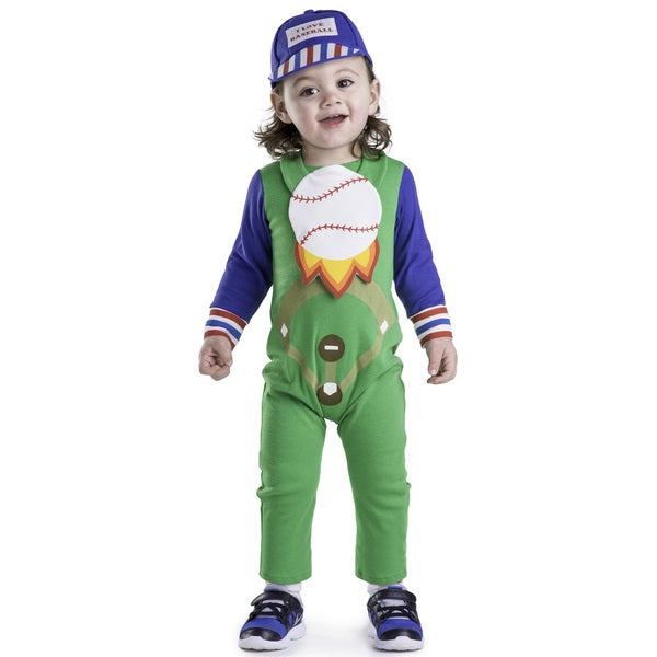 Dress Up America Baby Boy's Multi-color Polyester Baseball Costume