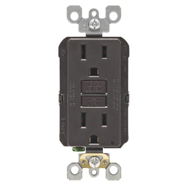 Leviton GFCI Receptacle 15 amps 5-15R 125 volts Brown - Free ...