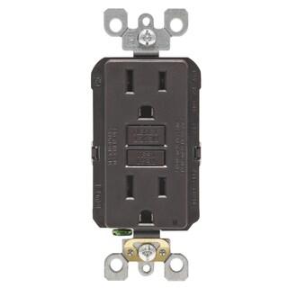 Leviton R00-GFNT1-00K 15 Amp Brown SmartlockPro Self-Test GFCI