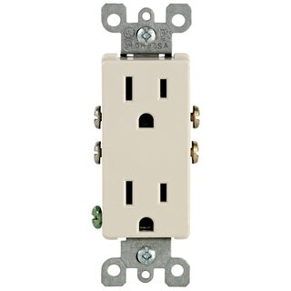 Leviton M26-05325-TMP Light Almond 15 Amp Duplex Outlets 10-count
