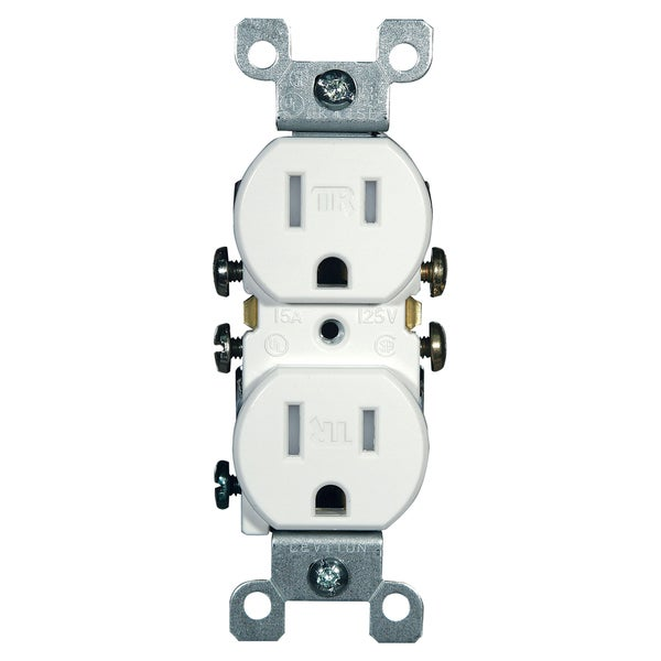 Leviton Electrical Receptacle 15 amps 5-15R 125 volts White - Free ...