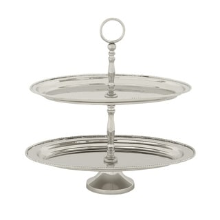 Stunning 2 Tier Steel Tray Stand