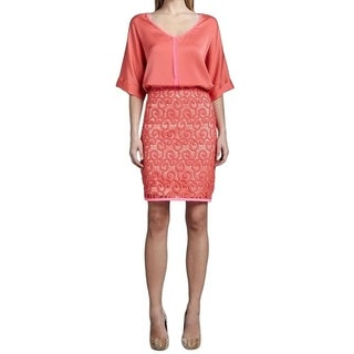 Elie Tahari Women's Bella Coral Lace Size 4 Skirt