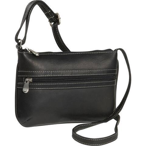 LeDonne Leather City Womens Leather Crossbody Handbag