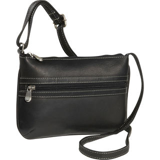LeDonne Leather City Women's Leather Crossbody Handbag