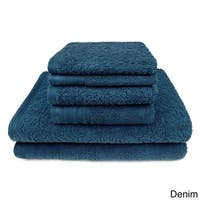 Zero Twist Jacquard 6-Piece Bath Towel Set