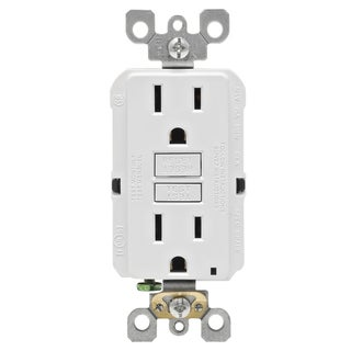 Link to Leviton  GFCI Receptacle  15 amps 1-15R  125 volts White Similar Items in Electrical