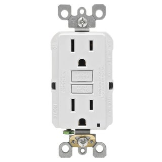Leviton M02-GFNT1-03W 15 Amp White SmartlockPro Self-Test GFCI 3-count