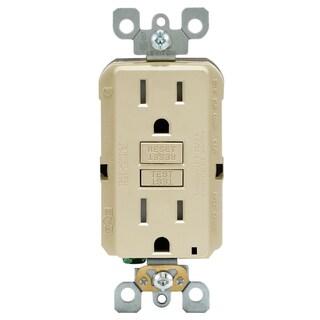 Leviton M01-GFTR1-03I 15 Amp Ivory SmartlockPro Self-Test GFCI 3-count