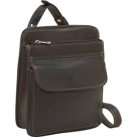LeDonne Leather Structured Crossbody Handbag