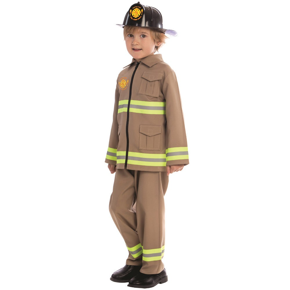 Dress Up America Boys KJ Polyester Firefighter Costume (M...